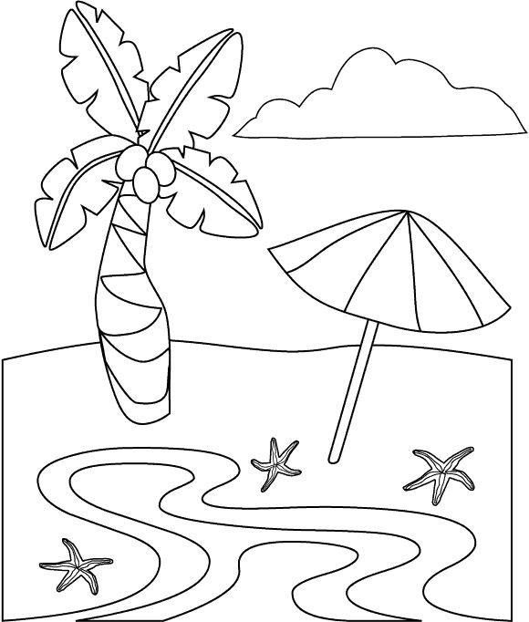 Coloriage et dessins gratuits La Plage à imprimer