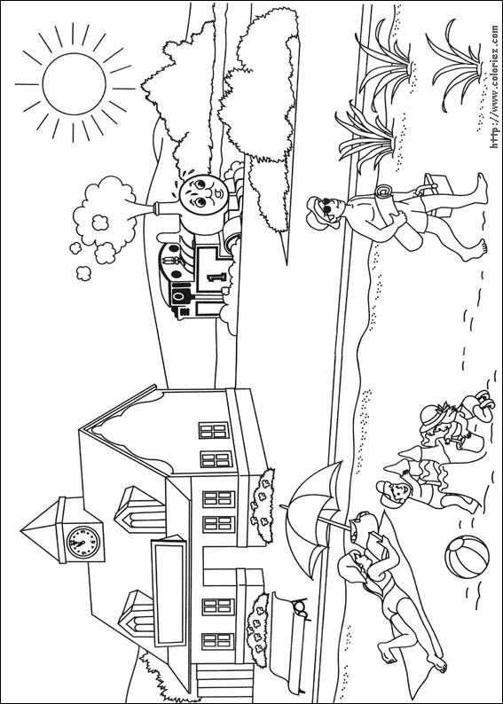 Coloriage et dessins gratuits La Plage devant La Gare à imprimer