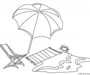 Coloriage et dessins gratuit La Plage Maternelle à imprimer