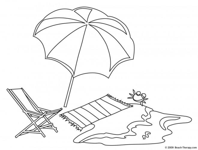 Coloriage et dessins gratuits La Plage Maternelle à imprimer