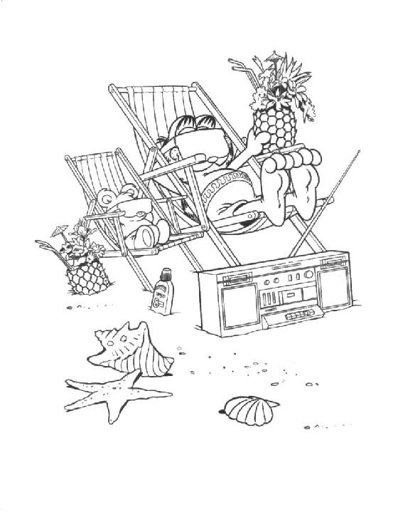 Coloriage et dessins gratuits Le Paix à La Plage à imprimer