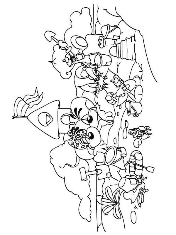 Coloriage et dessins gratuits Les animaux en s'amusant à La Plage à imprimer
