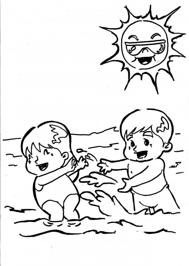 Coloriage et dessins gratuits Les Bébés s'amusent sous le soleil à imprimer