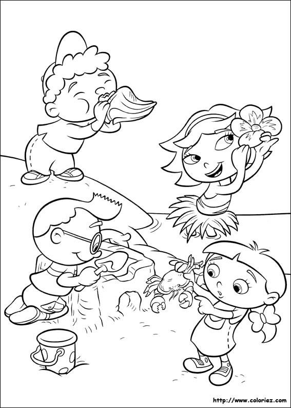 Coloriage et dessins gratuits Les Petits s'amusent sur La Plage à imprimer