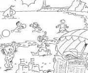 Coloriage et dessins gratuit Plage et Mer à imprimer
