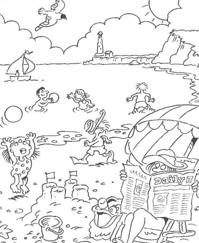 Coloriage et dessins gratuits Plage et Mer à imprimer