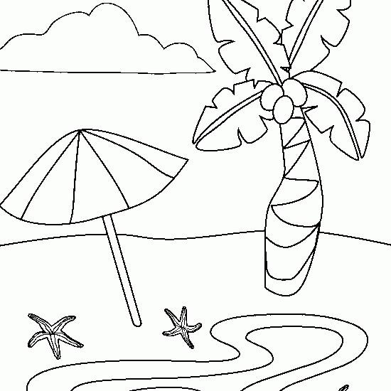 Coloriage et dessins gratuits Plage fantastique à imprimer