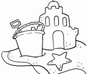 Coloriage et dessins gratuit Sable de La Plage à imprimer