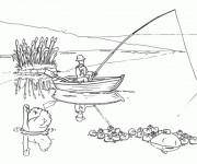 Coloriage dessin  Fond Marin 49