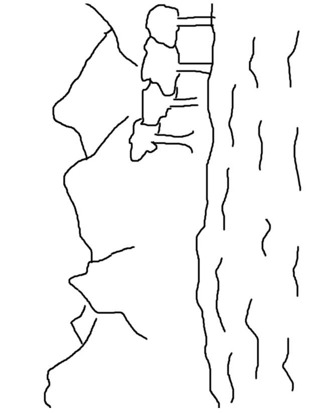 Coloriage et dessins gratuits Lac au crayon à imprimer