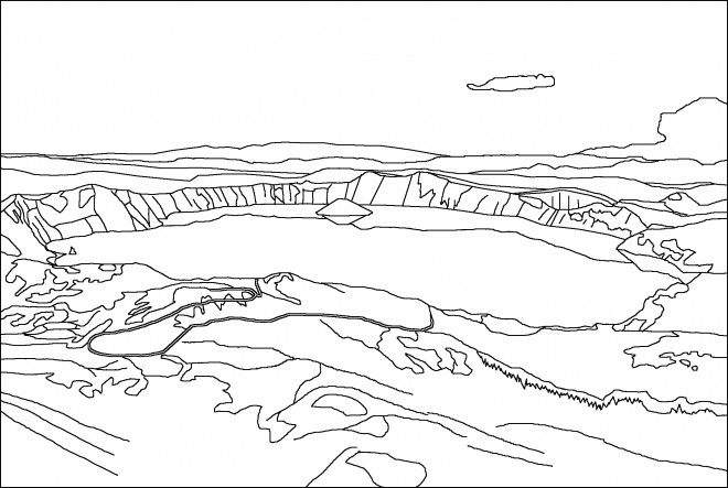 Coloriage et dessins gratuits Lac de Montagne à imprimer