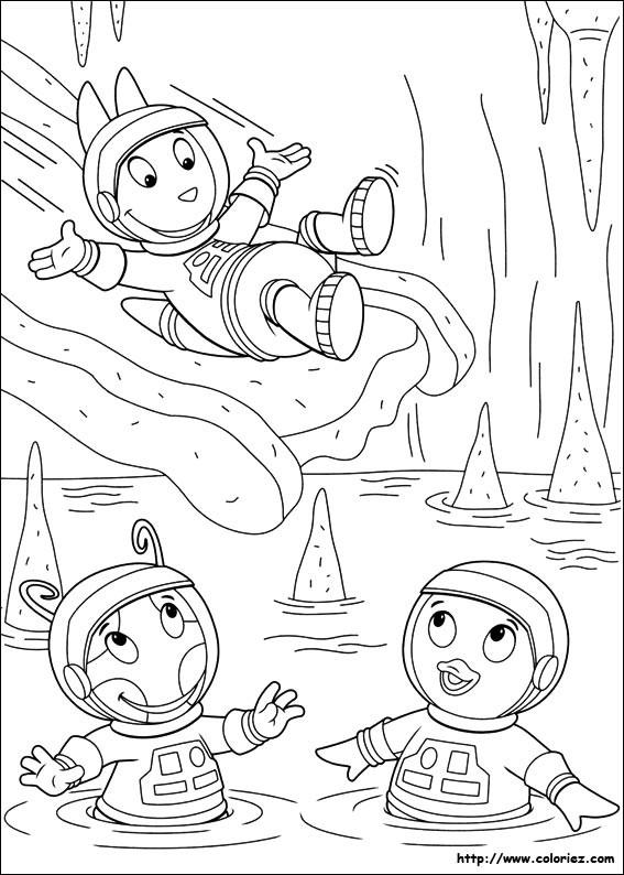 Coloriage et dessins gratuits Lac dessin animé à imprimer