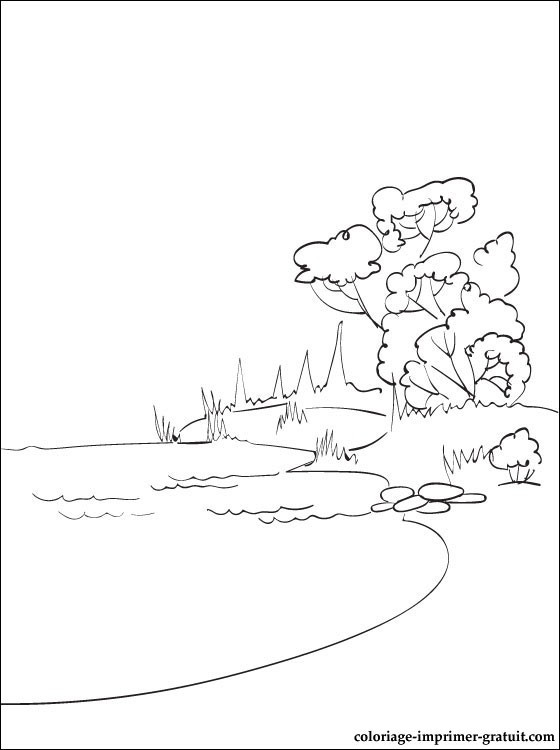 Coloriage et dessins gratuits Lac en couleur à imprimer