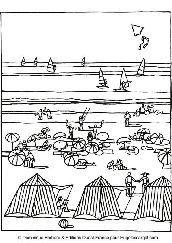 Coloriage et dessins gratuits Lac en Été à imprimer