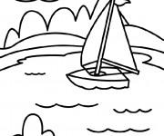 Coloriage et dessins gratuit Lac en vecteur à imprimer