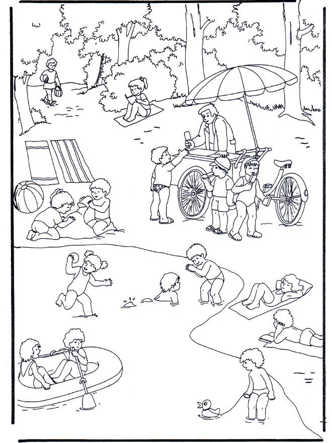 Coloriage et dessins gratuits Lac et Activités pour Enfant à imprimer