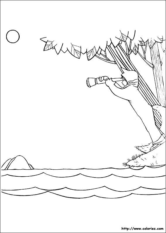 Coloriage et dessins gratuits Lac et Enfant à imprimer