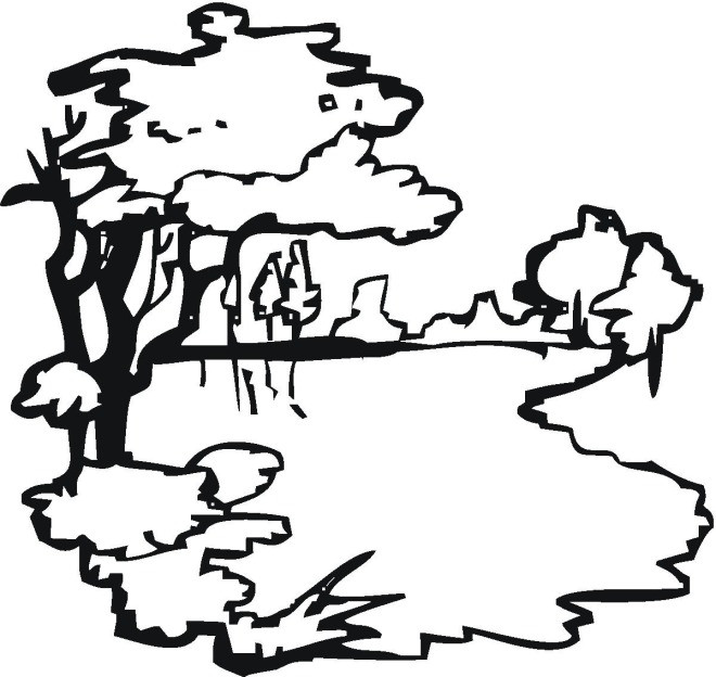 Coloriage et dessins gratuits Lac vectoriel à imprimer
