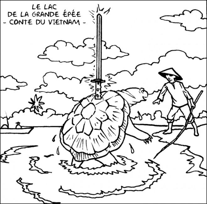 Coloriage et dessins gratuits Le Lac de La Grande Épée à imprimer