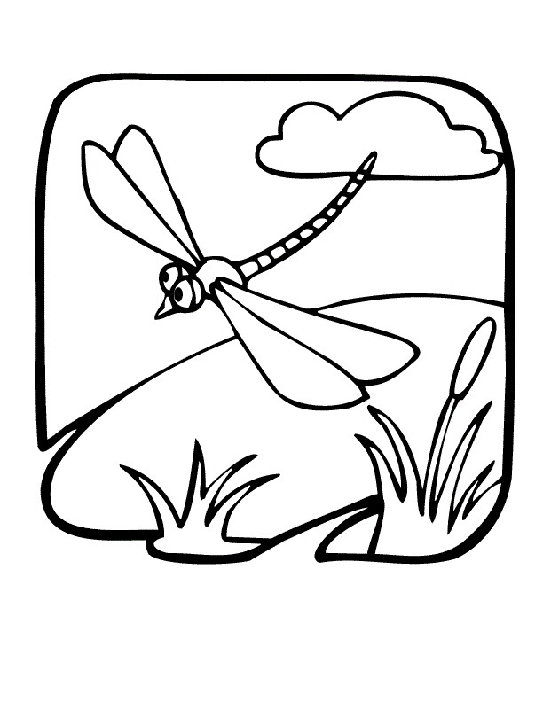 Coloriage et dessins gratuits Libellule 24 à imprimer