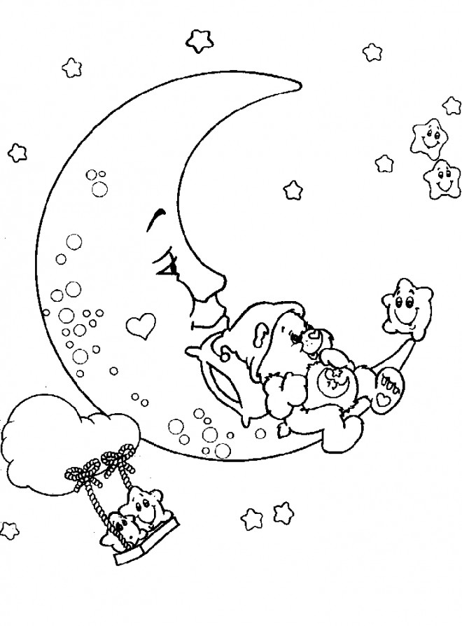 Coloriage Lune gratuit à imprimer