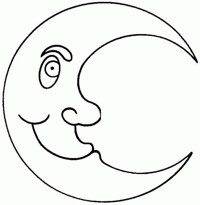 Coloriage et dessins gratuits Croissant de Lune maternelle à imprimer