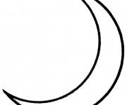 Coloriage et dessins gratuit Croissant de Lune simple à imprimer
