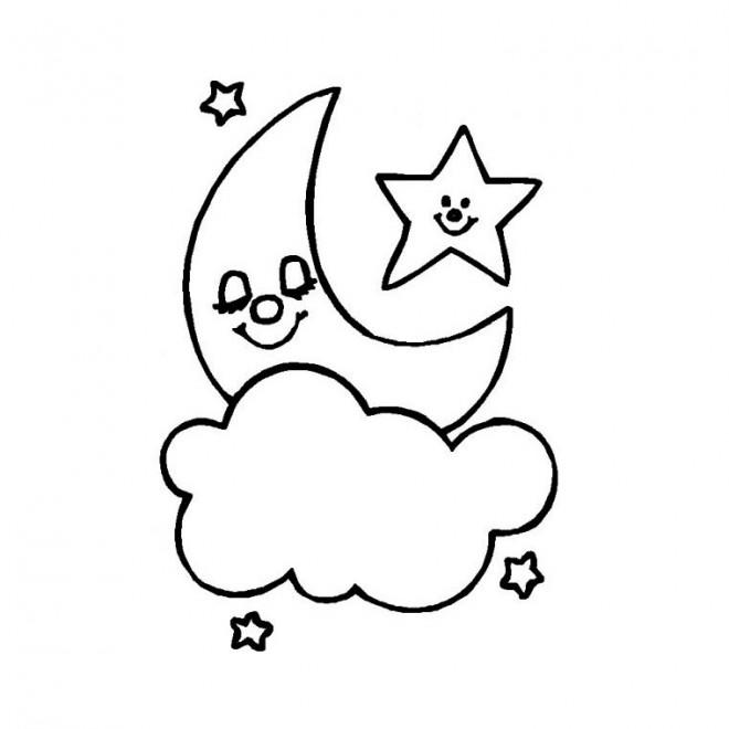 Coloriage Lune Gratuit A Imprimer