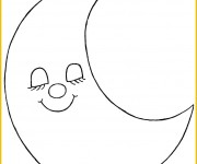 Coloriage dessin  Lune 15