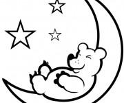 Coloriage dessin  Lune 18