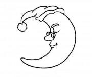 Coloriage dessin  Lune 3
