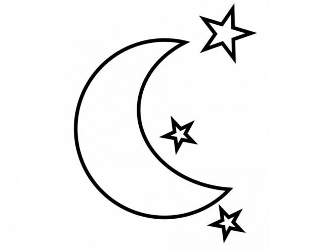 Coloriage lune 32 dessin gratuit imprimer - La lune coloriage ...