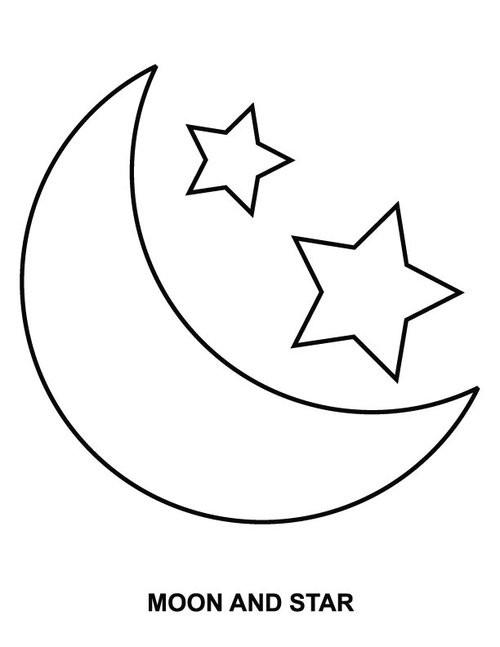 Coloriage Lune Et Etoiles Dessin Gratuit A Imprimer