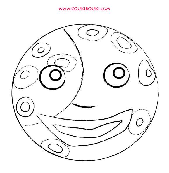 Coloriage et dessins gratuits Lune Mandala à imprimer