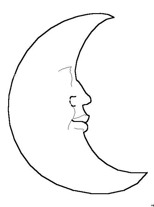 Coloriage et dessins gratuits Lune vecteur maternelle à imprimer