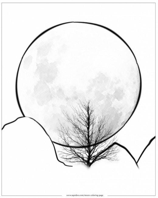 Dessin De La Lune A Imprimer Colorier Les Enfants