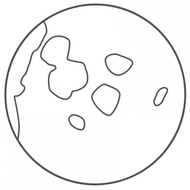 Coloriage Pleine Lune au crayon dessin gratuit à imprimer