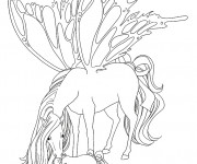 Coloriage Cheval Papillon