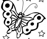 Coloriage Formidable Papillon en plein air