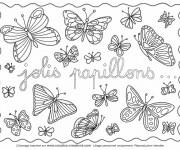 Coloriage Jolis Papillons