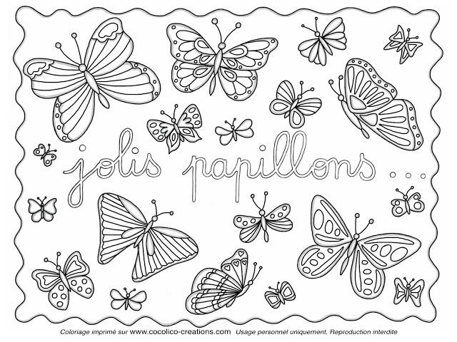 Coloriage et dessins gratuits Jolis Papillons à imprimer