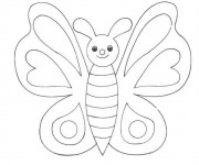 Coloriage dessin  Magnifique Papillon 16