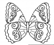 Coloriage et dessins gratuit Magnifique Papillon à décorer à imprimer
