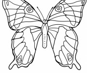 Coloriage et dessins gratuit Magnifique Papillon à découper à imprimer