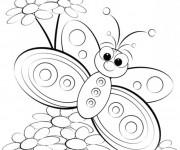 Coloriage Magnifique Papillon dessin animé