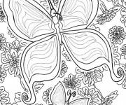 Coloriage Magnifique Papillon mandala