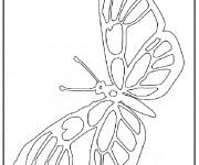 Coloriage Magnifique Papillon ouvrant ses ailes