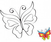 Coloriage Magnifique Papillon pour décoration