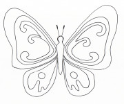 Coloriage et dessins gratuit Magnifique Papillon stylisé en noir à imprimer
