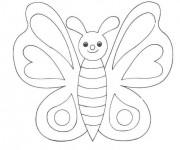 Coloriage et dessins gratuit Papillon à compléter à imprimer